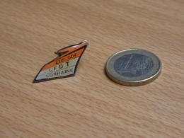 PIN'S. EDF GDF LORRAINE.  CFDT. - EDF GDF