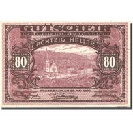 Billet, Autriche, Pressbaum, 80 Heller, Eglise 1921-07-31, SPL Mehl:FS 784a - Austria