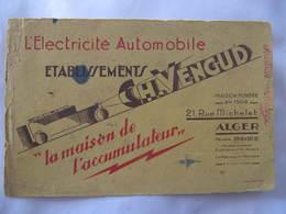 BUVARD - ETS H. VENGUD - ALGER - L'ELECTRICITE AUTOMOBILE - Non Classés