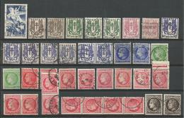 SUPERBE - ANNEE 1945 Avec Plusieurs Nuances - 250 Timbres Oblitérés (o) - 1940-1949