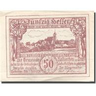 Billet, Autriche, Hafkirchen, 50 Heller, Village 1921-02-28, SPL Mehl:FS 387I - Austria