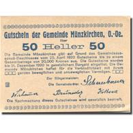 Billet, Autriche, Münzkirchen, 50 Heller, Village, 1920 SPL Mehl:FS 637 - Austria