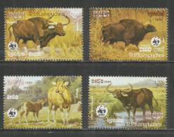 Kampuchea 1986 Year, Set , Used Stamps (o) WWF - Kampuchea