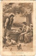 DURANTE LA VENDEMMIA - TIMBRO DI POSTA MILITARE - FORMATO PICCOLO - VIAGGIATA 1916 - (rif. N166) - Weinberge