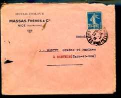 1924  Huile D'olive Massas Frères & Cie à Nice    N°755 - Publicités