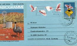 SYDNEY - 1986 , Aerogramme - Nach Berlin - Entiers Postaux
