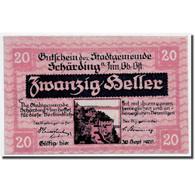Billet, Autriche, Schärding, 20 Heller, Drapeau, 1920, 1920-03-13, SPL - Austria