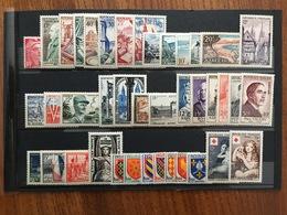 FRANCE Année Complète 1954 - YT N° 968 à 1007 - 40 Timbres Neufs Sans Charnière - Francia