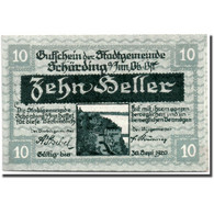 Billet, Autriche, Schärding, 10 Heller, Drapeau, 1920, 1920-03-13, SPL - Austria
