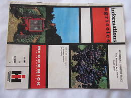 Revue Agricole - IHF - MC CORMICK - TRACTEUR - Volume 12   N° 2 - Andere