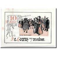 Billet, Autriche, St Lorenz, 10 Heller, Personnage, SPL, Mehl:904 - Austria