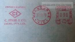 D165703 EMA METER STAMP FREISTEMPEL  -Envelope - Australia - CI- C.ITOH & CO.  Melbourne Vic. - 1966-79 Elizabeth II