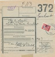 29/444 -- Formule De Colis Militaire - TP Chemin De Fer Coupé En Deux Cachet De Gare ( Moustache) MECHELEN 1 1939 - 1923-1941