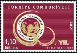 AC - TURKEY STAMP  -  50th YEAR OF THE ANKARA UNIVERSITY FACULTY OF DENTISTRY MNH 14 DECEMBER 2013 - 1921-... República