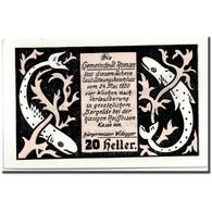 Billet, Autriche, St Roman, 20 Heller, Animaux, 1920, 1920-05-24, SPL, Mehl:935a - Austria