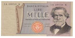 1000 LIRE VERDI II° TIPO 25 03 1969 FDS  LOTTO 2658 - [ 2] 1946-… : Repubblica