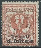 1909 LEVANTE TRIPOLI DI BARBERIA USATO AQUILA 2 CENT - RA14-8 - 11. Foreign Offices