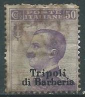 1909 LEVANTE TRIPOLI DI BARBERIA USATO EFFIGIE 50 CENT - RA14-5 - 11. Foreign Offices