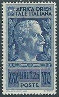 1938 AFRICA ORIENTALE ITALIANA SOGGETTI VARI 1,25 LIRE MH * - RA9-7 - Africa Oriental Italiana