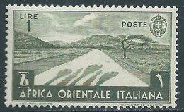 1938 AFRICA ORIENTALE ITALIANA SOGGETTI VARI 1 LIRA MNH ** - RA9-6 - Africa Oriental Italiana