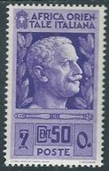 1938 AFRICA ORIENTALE ITALIANA SOGGETTI VARI 50 CENT MH * - RA9-7 - Africa Oriental Italiana