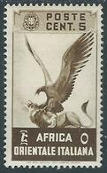 1938 AFRICA ORIENTALE ITALIANA SOGGETTI VARI 5 CENT MH * - RA9-8 - Africa Oriental Italiana