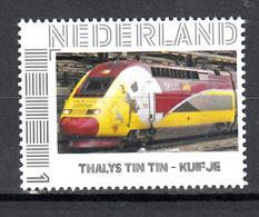 Trein, Train, Eisenbahn, Nederland Persoonlijke Zegel: Thalys, Kuifje, Tin Tin - Treni