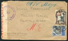 1943 Uganda Masindi Polish Settlement Refugee Camp Censor Cover - Polish Forces, PAIFORCE. Field Post Office 124 Persia - Kenya, Uganda & Tanganyika
