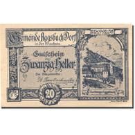 Billet, Autriche, Aggsbach Dorf, 20 Heller, Eglise, 1920 SPL Mehl:FS 8 - Austria