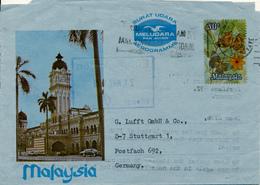 PETALING JAYA / SELANGOR / MALAYSIA - 1979  , Aerogramme - Nach Stuttgart - Malaysia (1964-...)