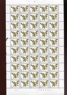 Belgie Buzin Vogels Birds Nr 2424 Full Sheet Drukdatum 6/9/1991 MNH Plaatnummer 1 - 1985-.. Birds (Buzin)