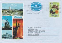 KUALA LUMPUR /  MALAYSIA - 1977  , Aerogramme - Nach Alfdorf - Malaysia (1964-...)