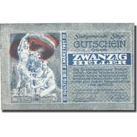 Billet, Autriche, Steyr, 20 Heller, Personnage, 1921-03-31, SPL, Mehl:FS 1034IIc - Austria
