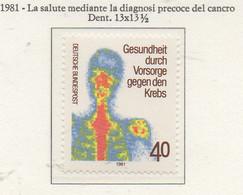 PIA - GERMANIA  - 1982 : Protezione Della Salute Mediante La Diagnosi Precoce Del Cancro - (Yv 921) - Malattie