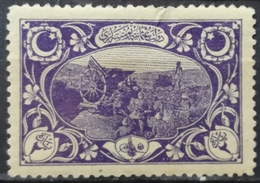 1918 OTTOMAN EMPIRE MH Turkish Artillery Violet Vienna Print LIGHTLY BENT - 1858-1921 Ottoman Empire