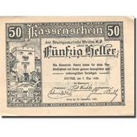 Billet, Autriche, Weitra, 50 Heller, Château 1920-12-31, SPL Mehl:FS 1166f - Austria