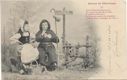 4026  - Illustrateur Bergeret Femmes 5 Cartes Serie Complete Retour Pelerinage Precurseurs - Bergeret