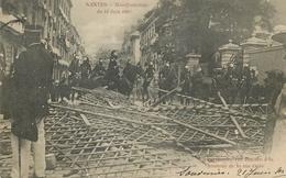 Nantes- Manifestation Du 14 Juin 1903- La Barricade Rue Royale,à La Hauteur De La Rue Ogée - Nantes