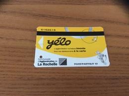 Ticket De Bus * Yélo Communauté D'Agglomération De La Rochelle (17) - Bus