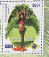 FRENCH POLYNESIA, 2017, MNH, BRASILIA EXHIBITION, TREES, WOMEN, GIRLS, DANCES, 1v - Dance