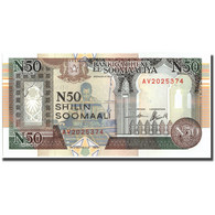 Billet, Somalie, 50 N Shilin = 50 N Shillings, 1990, 1990, KM:R2, SPL - Somalie