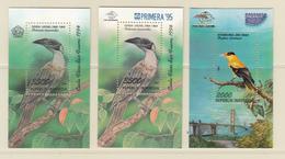 Indonesia 3x S/S, Bird, Birds, MNH** - Birds