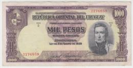 URUGUAY 1000 Pesos 1939 VF Pick  41c - Uruguay