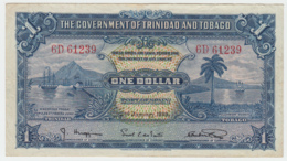 TRINIDAD & TOBAGO 1 Dollar 1939 VF+ Banknote Pick 5b 5 B - Trinidad En Tobago