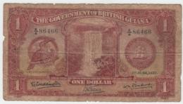 British Guiana 1 Dollar 1937 Fair - G Pick 12a  12 A - Guyana
