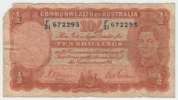 Australia 10 Shillings 1939 Good P 25a 25 A - Pre-decimaal Stelsel Overheidsuitgave 1913-1965