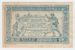 FRANCE 50 Centimes ND. 1917 VF Pick M1 - Treasury