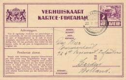 Nederlands Indië - 1935 - 2 Cent Karbouwen, Verhuiskaart G9a Van PV Batavia Naar Leiden / Nederland - Niederländisch-Indien