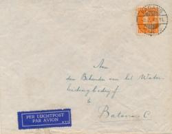 Nederlands Indië - 1942 - 17,5 Cent Konijnenburg - Enkelfrankering Op LP-cover Van Padang Naar Batavia - Niederländisch-Indien