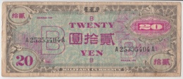 JAPAN 20 Yen 1945 Fine Pick 73 - Japan